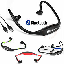 New STEREO Wireless Bluetooth Headset Headphones Sports for iPhone iPod Samsung