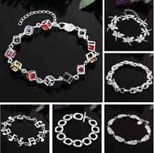 Christmas gifts ! Fashion wholesale Solid SILVER Womens Bracelet/bangle lady 925