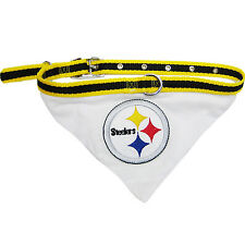 PITTSBURGH STEELERS DOG BANDANA COLLAR-STEELERS COLLAR BANDANA-NFL PET COLLAR