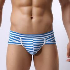 Hot Sales Sexy Muscle Underwear Striped Briefs Shorts Bulge Pouch Comfortable