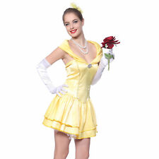 Sexy Princess Belle Fancy Dress Fairy Tale Beauty Beast Party Costume Cosplay