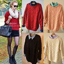 Women New Casual Long sleeve Knitted Pullover Loose Sweater Knitwear Jumper Tops