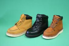 """Men's Work Boots 6"""" Leather By Eagle Colors Tan , Coffee , Black Sizes  6.5 - 12"""