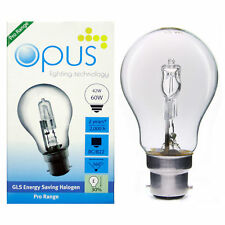 Dimmable GLS 42W = 60W Halogen Energy Saving Light Bulbs BC B22 ES E27 Cap PACK