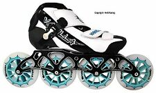 Vanilla Spyder Black & White Inline Speed Skates