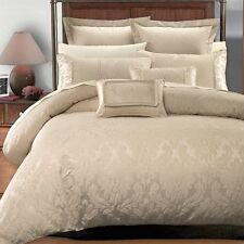 NEW 9pc Royal Hotel Collection Sara multi tone Beige Duvet Cover Bed Bag Set