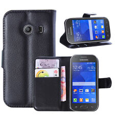 Black WALLET PU Leather Flip Case Cover Pouch for Samsung Galaxy Various phones