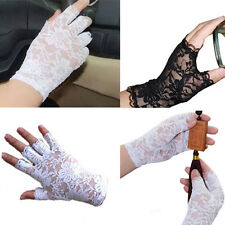 Women Goth Party Mittens Fingerless Lady Lace Gloves Sexy Dressy New Style