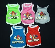 """(Sm-Med Breed)  PRINTED """"ANGRY BIRDS"""" Pet Dog  Fashion Polyester Blend Tank Top"""