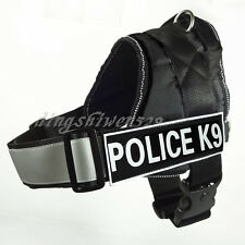 POLICE K9 SERVICE DOG Vest Harness Padded Reflective Velcro Patches IN TRAINING