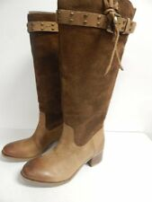 Guess Dakoda Knee High Boots 5.5 M Brown Multi Suede Distressed New with Box