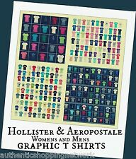 Wholesale Hollister & Aeropostale Lots Mens Womens Graphic T-Shirts Multi-color