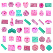 Fondant Silicone Mold For Polymer Clay Candy Cake Decorating Chocolate Mould DIY