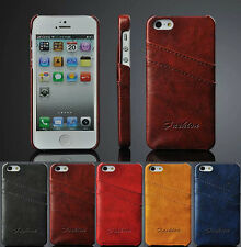 Luxury PU Leather Wallet Credit Card Slot Back Case Cover Skin For iPhone 5 5S