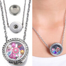 New Floating Charms Locket Snap-It Chunk Button For Snap Neckalce Chain Jewelry