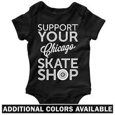 Support Your Chicago Skate Shop One Piece - Skate Baby Infant Romper - NB to 24M