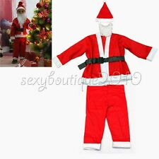 5 Sets Christmas Santa Claus Fancy Dress Costume Children Baby Outfits Clothes