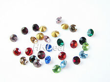 Czech Chaton Preciosa Round Stone Point Back Multi-Colored pp18 24 ss16 Crystal