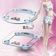Digital LCD Glass Electronic Weight Body Bathroom Health Scale -- free ship