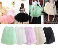 New HOT Women Princess Fairy Style 5 layered Tulle Dress Bouffant Skirt US