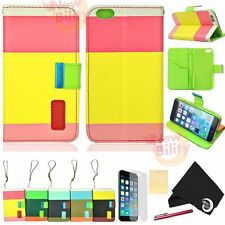"For iPhone 6 plus 5.5"" Wallet Card Holder PU Leather Flip Pouch Case Cover Skin"
