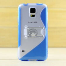 Stand TPU Hard Bracket Gel Case Cover Skin Back For Samsung Galaxy S5 SV i9600