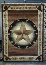 NEW! 3X4, 3X7, 6X8, 8X11 Texas Star Cowboy Hats Country Western Cabin Area Rugs