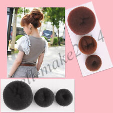 1 Set Bun Maker Hair Former Doughnut Hair Maker Styler brown & black L M S