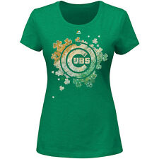 MAJESTIC ATHLETIC Women's Chicago Cubs Loving My Luck Short-Sleeve T-Shirt