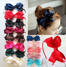 Handmade Satin Alice Band Headband with Boutique Bow Hair Band Hair Accessories