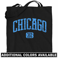 Chicago 312 Tote Bag - Chi-Town Windy City Area Code Shopping Shoulder Bag - NEW