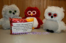 Knitted Tinsel Owl Doorstop Yarn Kit - Make your own Owl Doorstop