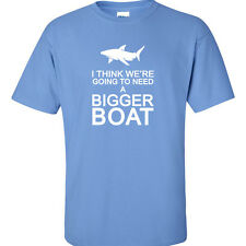 Big 3XL 4XL 5XL Graphic T-Shirt Jaws Movie DVD Tee Gonna Need A Bigger Boat