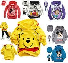 hot Kids Baby Mickey/Minnie Boys Girls Hooded Coat Jacket Jumper Ages 2-8years
