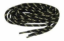 2 pr lot Heavy Duty Kevlar Reinforced Bootlaces Shoelaces Black w/ Natural *NEW*