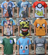 Sword Art Online full Print T SHIRT Pikachu Totoro Adventure Time JACK TEE