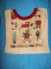 Special Needs Adult Bib Clothing Protector -Christmas