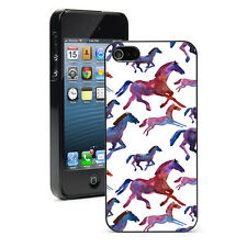 For Apple iPhone 4 4S 5 5S 5c 6/6 Plus Hard Case Cover 1001 Watercolor Horses