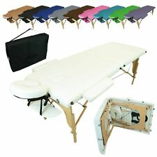 LINXOR FRANCE ® TABLE DE MASSAGE PLIANTE 2 ZONES + HOUSSE / Blanc Noir Violet
