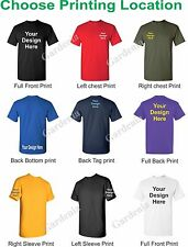 50 CUSTOM SCREEN PRINTED  T-SHIRTS WITH YOUR CUSTOM LOGO OR DESIGN