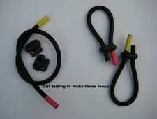 2 Conductive rubber loop electrodes Tens Estim - for 2mm,  4mm plug (6.5mm Tube)
