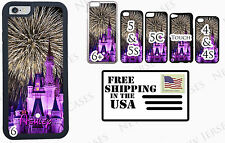 NEW Disney Castle Fireworks Personalized with Your Name Phone Case Cover