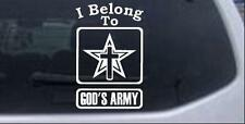 I Belong To Gods Army Car or Truck Window Laptop Decal Sticker