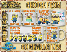 DESPICABLE ME Personalised MINION Coffee Mug Tea Cup Christmas Birthday Gift