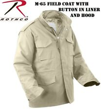 Khaki Military M-65 Field Jacket Coat With Liner 8254