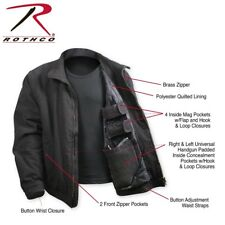 Black Military Tactical Coat Concealed Carry Around 3 Season Style Jacket 5385