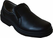 Men Slip On Oil Resistant Shoes Boots Restaurant Busboy Cook Waiter Black-jo/03
