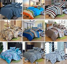 100% COTTON Soft Quilt Cover /Sheet Set /Flat/Fitted/Pillowcases