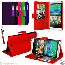 FLIP WALLET STAND LEATHER CASE COVER For HTC Desire 510