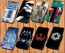 Star Wars For Faux Leather Flip iPhone & Samsung Galaxy Case Cover D12